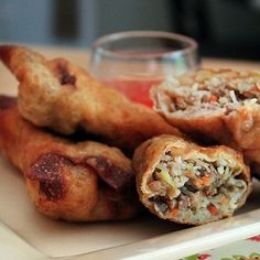Pork Egg Rolls with Sweet Thai Chili Sauce {recipe}