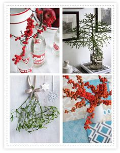 pretty Christmas floral details  :)