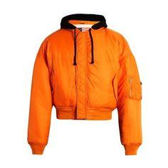 Vetements X Alpha Industries reversible bomber jacket ($2,295) ❤ liked on Polyvore featuring men's fashion, men's clothing, men's outerwear, men's jackets, tops, black multi, mens shell jacket, mens reversible jacket, mens hooded jackets and mens military style jacket