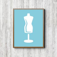 Tailors Dummy Printable Wall Art  Dressmakers by PrimroadDesigns