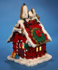 Look what I found on #zulily! Snoopy Gingerbread Light-Up House Décor #zulilyfinds
