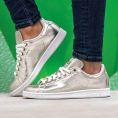 adidas Originals Stan Smith: Silver Adidas women shoes - http://amzn.to/2jB6Udm