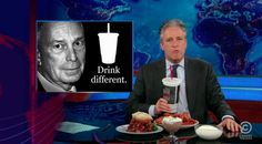 Watch Jon Stewart Bash the NYC Soda Ban.  Second video is my fave.