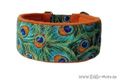 "Sighthound collar, greyhound collar, martingale, dog collar, galgo, whippet, *peacock*, wide 1.6'' or 2"" on Etsy, £14.86"