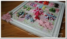DIY Hair Bow Board. Love this design!!! On my list of things to make Very soon:)