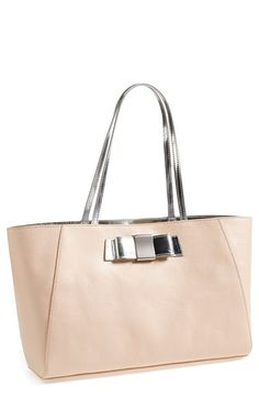 Cute spacious tote with bow detail http://rstyle.me/n/p9x3dnyg6