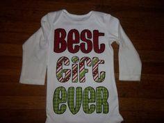 Best Gift Ever infant bodysuit newborn baby by CustomCraftsbyStef
