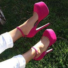 Fuchsia #heelshoes #platformheels #highheels #heels #heelsfashion #pumps #pumpheels #heelpumps #platformheels #platformshoes #spring #springcollection #cute #fun #springtime #springfling #springfun #2014spring #springbreak #springfun #funinthesun