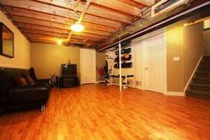 Unfinished basement ideas that marketed our house! You do not need a completed basement to obtain the most for your loan, you simply need a wonderful location. Find for Unfinished Basement Ideas to add to your very own home. Unfinished Basement Ceiling, Painting Basement Floors, Best Flooring For Basement, Basement Gym, Basement Remodeling, Basement Ideas, Basement Carpet, Basement Laundry, Basement Waterproofing