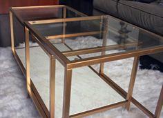 Ikea Hack - Gold Coffee Table DIY #IKEA @IKEA #DIY