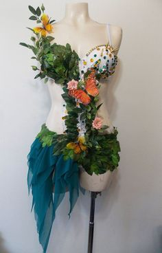 Perhaps next years costume??  Nymph Fairy Costume Rave Bra Custom Event by SugarRoxCouture, $150.00