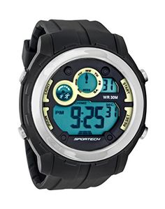 Sportech Unisex  Indigo Grey and Silver Rim Super FullSize Racer Digital Sport Watch  SP10902 ** Continue to the product at the image link.Note:It is affiliate link to Amazon.