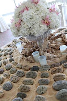 beach wedding themed escort cards - Google Search