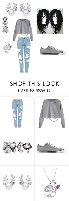 """""""Grey Queen"""" by queennicki1019 on Polyvore featuring Topshop and Converse"""