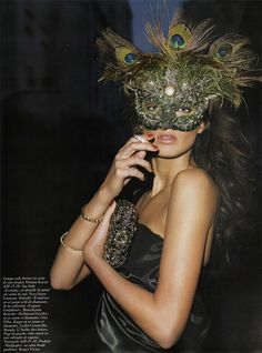 Masquerade (Halloween Gala) these masks we wear / karen cox. peacock mask