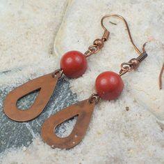 BIG SALE IN ETSY SHOP! Soul Stirring Earrings  red jasper stone antique by MySoulCanDance