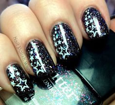 Starry starry nails nail art #nails #manicure # www.SimpleNailArtTips.com