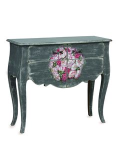 Ava Floral Console - Gilt Home Ava Floral Console - Gilt Home victorian table flowers distressed