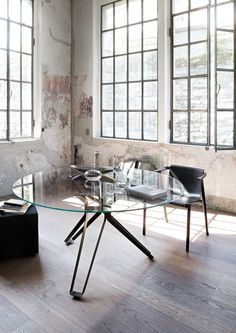Round #glass #table 3-POD by Lema   #design Francesco Rota