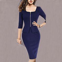 ドルチェの女性のラウンド襟半ば袖のドレス – JPY ¥ 2,337