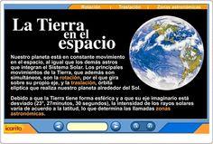 """""""La Tierra en el espacio"""", de Icarito, es una magnífica exposición animada sobre los movimientos de la Tierra, el día y la noche, las estaciones y las zonas climáticas de la Tierra. Sistema Solar, Earth Seasons, Social Science, Solar System, Boarding Pass, Moon, Ideas, Socialism, Social Environment"""