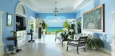 Greetings with a view. The reception entrance at Jamaica Inn, Ocho Rios. http://jamaicainn.com