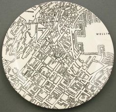 Part of the Downtown series including Auckland and Christchurch. Crown Lynn Potteries Ltd, West Auckland, NZ. Alfred Meakin, Love Affair, Auckland, 1950s, Pottery, Crown, Plates, History, Holiday Decor