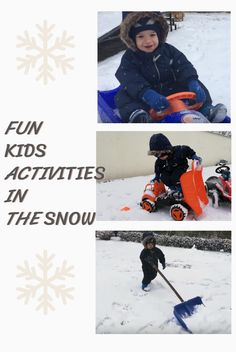 """Here are some favorites activities that Matti enjoyed this winter: * sledding / * pushing the sled / * playing with other kids in the snow / * throwing """"snowballs"""" ...toddler version / * running and chasing the cat / * snow shoveling / * clean the snow off the car /  * playing with construction vehicles in the snow Winter Outdoor Activities, Fun Activities For Kids, Shoveling Snow, Sled, Cool Kids, Toddlers, Construction, Running, Cats"""