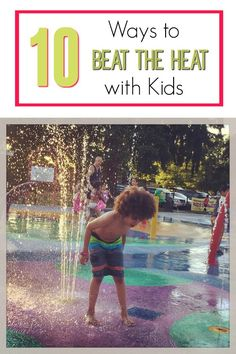 The kids are out of school for summer vacation and it's hot outside! Check out these unique ideas for escaping the heat with your kids during break. You will love these ideas for your family's summer bucket list or just as cool kids activities! Have fun!