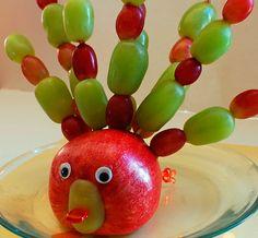Pavo real de fruta :)