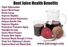 Beet Juice offers tremendous health benefits - Good reasons to drink beet juice...just saying