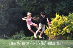 Fanny & Thierry 14-07-2013 from france jump for Forestaria Organic Farm in Lucca Tuscany