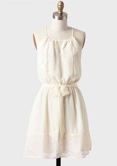 at Ruche // cream belted dress