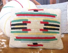 crocheted pillow via Cactus Creek Etsy