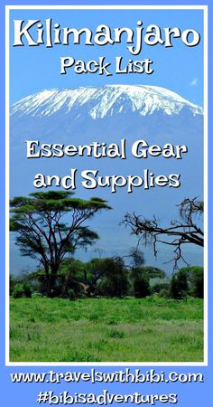 Wondering what gear you really need to climb Kilimanjaro? The following list includes every item I took with me and used when I successfully climbed Mount Kilimanjaro. #kilimanjaro #climbkili #hiking #rooftopofafrica #africa #tanzania #gearlist #machameroute #uhurupeak #stellapoint #portersrock #traveltips #tripofalifetime #bibisadventures