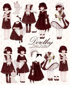 Learn To Draw Manga - Drawing On Demand Fashion Design Drawings, Fashion Sketches, Character Outfits, Character Art, Estilo Lolita, Anime Dress, Vintage Paper Dolls, Drawing Clothes, Anime Outfits