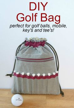 Drawstring Golf Accessories Bag Sewing Project