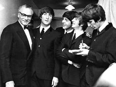 Laurence Olivier meets The Beatles.