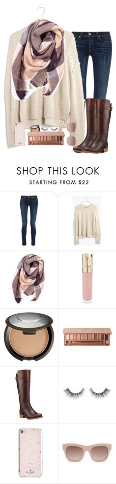 """""""sweater&scarf"""" by jordaneking10 ❤ liked on Polyvore featuring rag & bone, Madewell, Everest, Smith & Cult, Becca, Timberland, Kate Spade and STELLA McCARTNEY"""