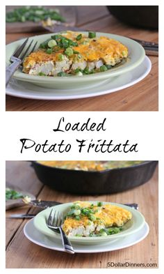 Loaded Potato Frittata ~ part of our 31 Days of Skillet Dinner Recipes | 5DollarDinners.com