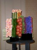 Tapestry Ikebana Flower Arrangement, Floral Arrangements, Tapestry Design, Tapestry Floral, Garden Club, Flower Show, Flower Decorations, Creative Design, Buffets