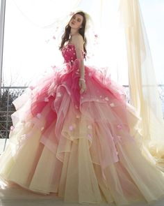 Pretty Quinceanera Dresses, Pretty Prom Dresses, Unique Prom Dresses, Quince Dresses, Ball Dresses, Fantasy Gowns, Princess Ball Gowns, Fairytale Dress, Beautiful Gowns