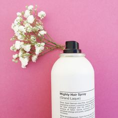 Our  water-free, dry brushable hair spray gives strong support with no flakes or frizz.