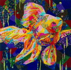 "Coleus"" by Barbara Olson - Quilt in Progress Collages, Collage Art, Landscape Art Quilts, Fish Quilt, Animal Quilts, Mini Quilts, Scrappy Quilts, Textiles, Fish Art"