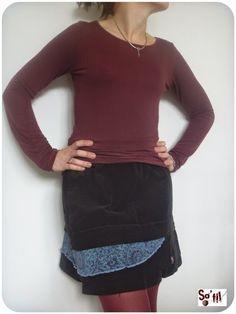 l'atelier de sofil : jupe noire asymétrique