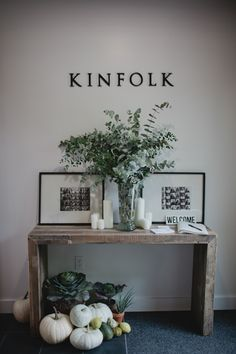 kinfolk magazine office entry welcome emmerson console table from west elm eucalyptus