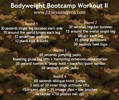 Bodyweight Bootcamp Workout 2 Summertime is practically here and we are with you again with Fit Board Workouts, Fun Workouts, At Home Workouts, Circuit Workouts, Cardio, Fitness Goals, Health Fitness, Fitness Fun, Fitness Classes