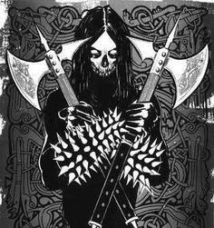 Black Metal, Heavy Metal Art, Dark Artwork, Metal Artwork, Dark Art Illustrations, Illustration Art, Medieval Fantasy, Dark Fantasy, Spooky Tattoos