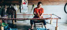 Woman weaves the hammock. #handmade #hammock #hammocks #wivers #handycrafted #thailand #work