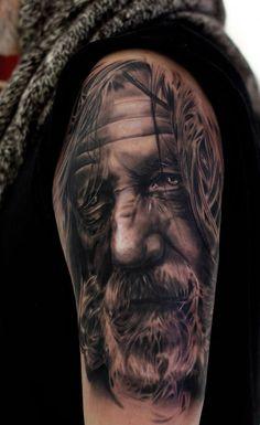 realistic portrait - 30 Incredible Realistic Tattoo Designs <3 !